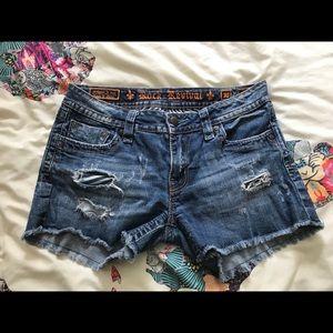 Denim Rock Revival Shorts